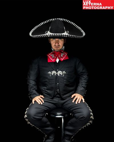 Victor in my garage studio Portraits Portrait Photography Mexican Hombre Sombrero Bandito
