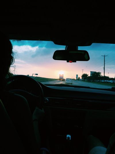 Sunset Driving Sunsets Sunset Driving Waco