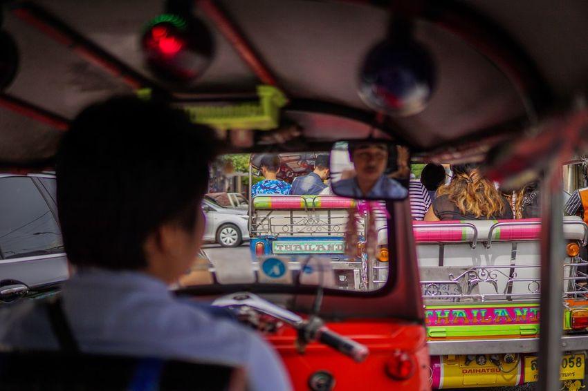 Tuk Tuk in Bangkok Real People Men People Day