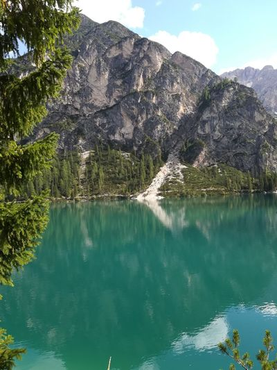 Lago Braies. Alto Adige (Italia) Lago Braies Tree Water Mountain Clear Sky Lake Forest Pinaceae Blue Sky Landscape
