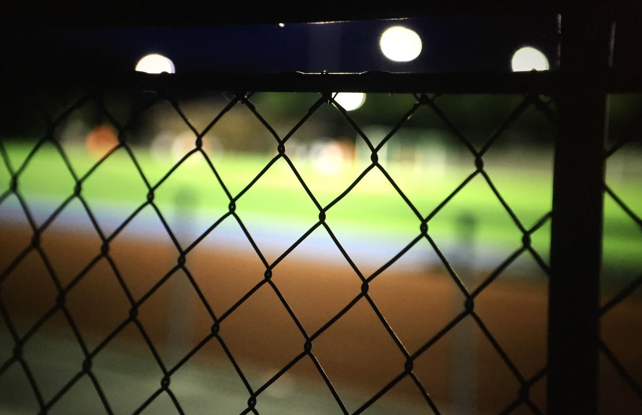 Chainlink Fence On Soccer Field