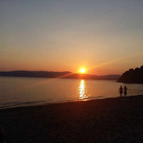 Gold sunset in Skiathos 43 Golden Moments Summer Sunset FeelTheMoment Achievement Gold Natural Beauty Peace Sea Greece Givelove