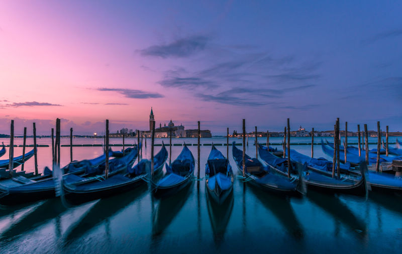 Gondolas and Chiesa di San Giorgio Maggiore in background at morning light in Venice, Italy Architecture Chiesa Di San Giorgio Maggiore Cityscape Gondola Morning Morning Light Sunrise_Collection Travel UNESCO World Heritage Site Built Structure Cityscapes Dawn Famous Place Gondola - Traditional Boat Historic Historical Place Landscape Nautical Vessel Popular Destination Sunrise Travel Destination Travel Destinations Unesco Urban Skyline Venezia No People Moored Building Exterior Transportation An Eye For Travel