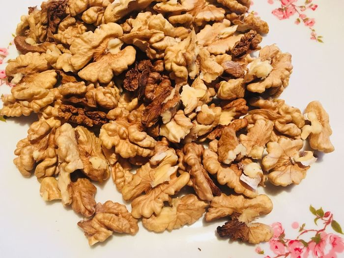 Nuts on a table Nuts Food And Drink Food No People Large Group Of Objects Freshness Close-up Indoors  White Background Ready-to-eat Day Healthy Eating