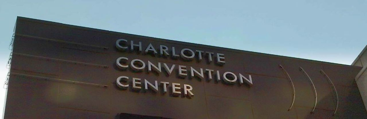 Charlottenorthcarolina Charlotte, NC Charlotte Nc CharlotteNC Charlotte Low Angle View Communication Text No People Cityscape Conventioncenter North Carolina Photowalk Streetphotography Cityscapes City