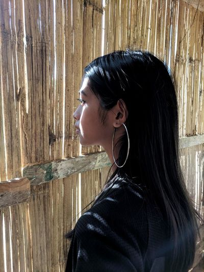 light Capture Tomorrow Young Women Water Headshot Beautiful Woman Side View Women Profile View Pixelated Human Face Arts Culture And Entertainment Thoughtful Pensive Pretty Posing Asian  Attractive Single Glasses