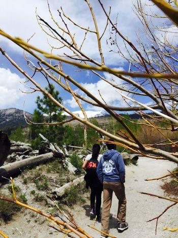 The Adventure Handbook Trekking Hiking Rainbowfalls Mammoth Lakes Holiday POV