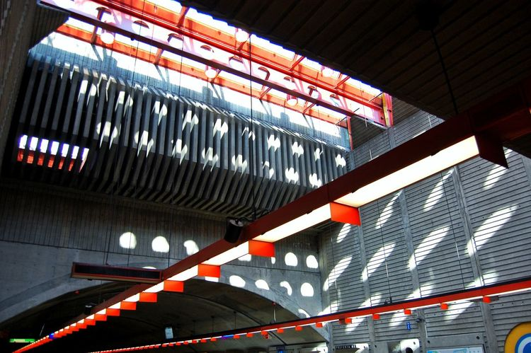 Built Structure Architecture Low Angle View No People Indoors  Illuminated Stadium Day Break The Mold