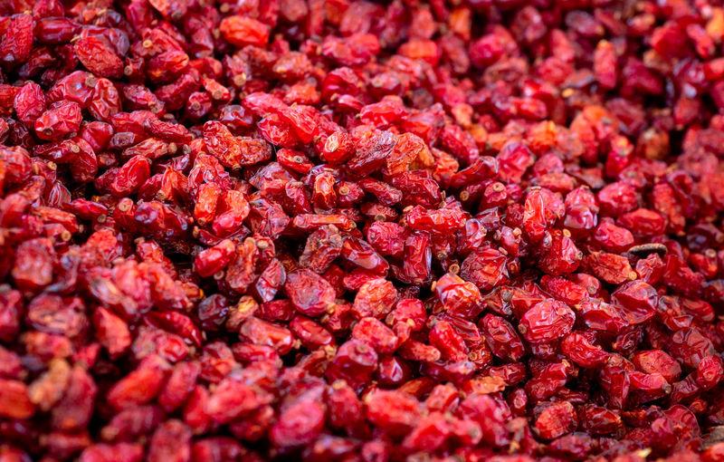 Rote Beeren auf