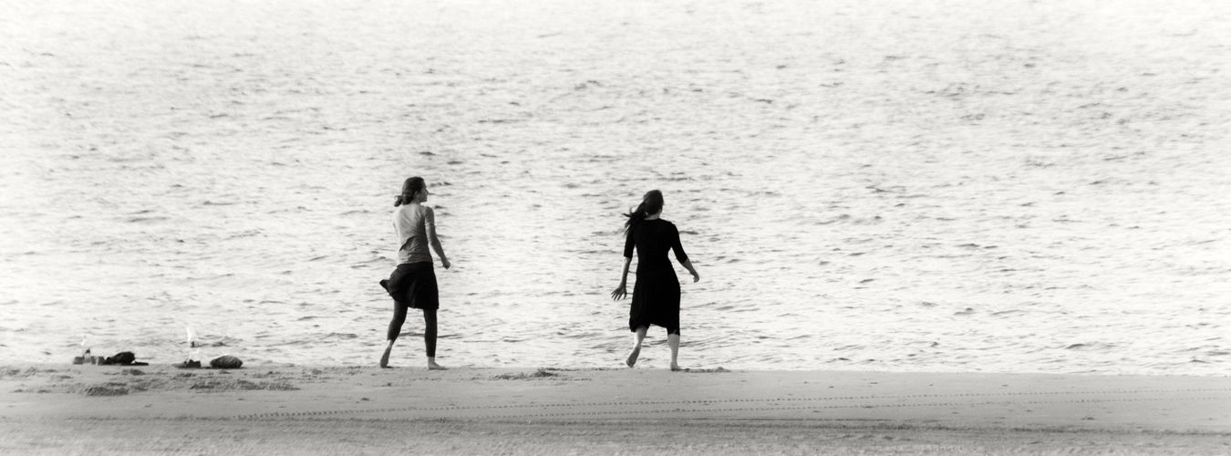 Women Female Beach Beachphotography Dancing Coney Island / Brooklyn NY Ocean Black & White Blackandwhitephotography Blackandwhite