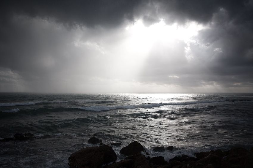 Stormy skies in Sicily, Italy. Sea Nature Beauty In Nature Water Sky Scenics Horizon Over Water Wave Tranquil Scene Beach Tranquility No People Outdoors Day