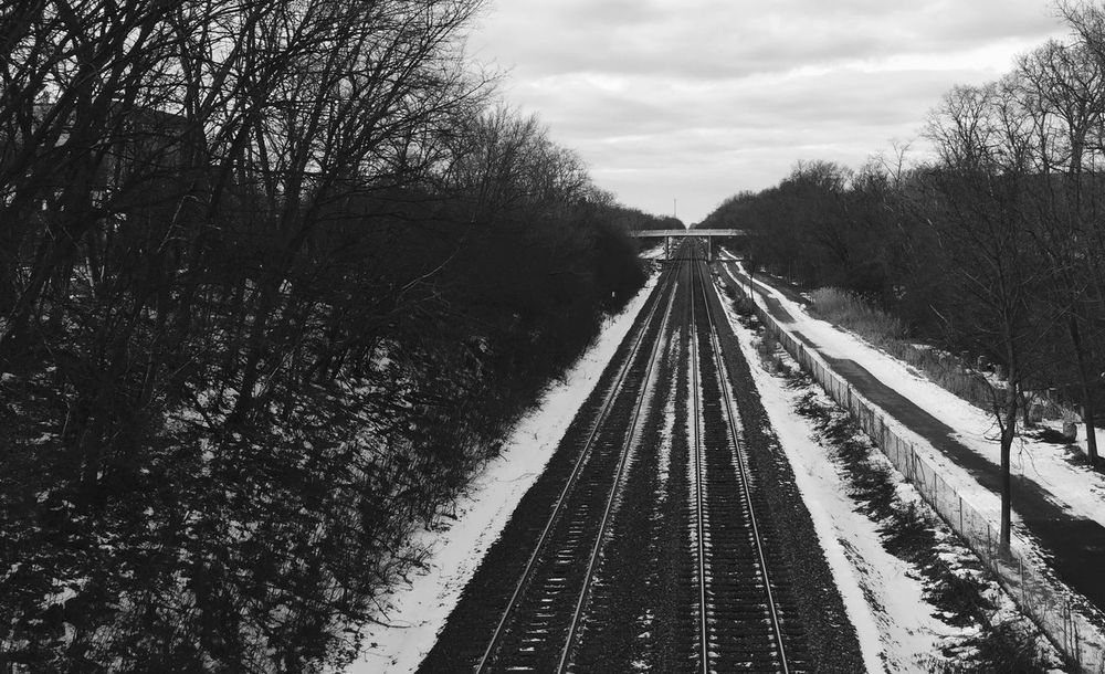Train Tracks Leading Lines Feel The Journey Long Train Running