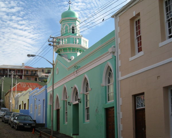 Architecture Blue Bo-kaap Building Exterior Cape Town Composition Façade Mosque Pastel Pastel Power Religion South Africa Street Travel Travel Photography Turquoise