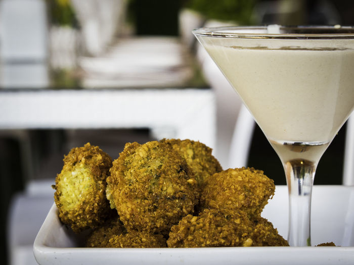 Rice Croquettes And Cocktail