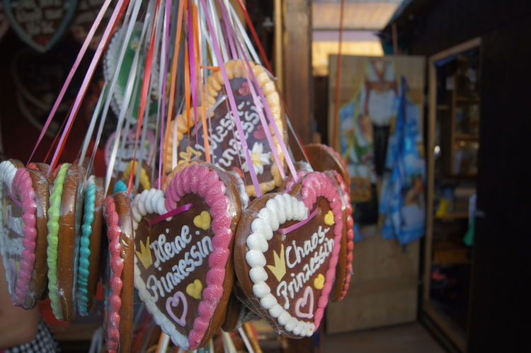Abundance Arrangement Choice Close-up Collection Decoration Display Focus On Foreground For Sale Large Group Of Objects Lebkuchen Market Market Stall Multi Colored No People Octoberfest Oktoberfest Retail  Sale Shop Small Business Still Life Store Variation Wiesn