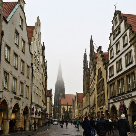 Christmas Market Christmas Münster, Germany Architecture Building Exterior Built Structure Large Group Of People Real People Men City Life Day Travel Destinations Lifestyles City Outdoors Sky People An Eye For Travel