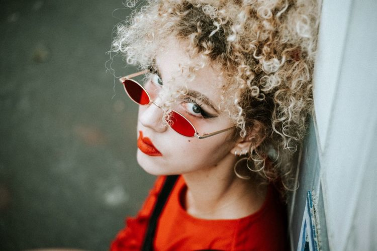 Orange is the new black Lifestyle Lifestyles Fashion Photography Fashion women around the world The Portraitist - 2018 EyeEm Awards The Fashion Photographer - 2018 EyeEm Awards One Person Headshot Portrait Girls Curly Hair Females Women Hair Hairstyle The Week On EyeEm Editor's Picks