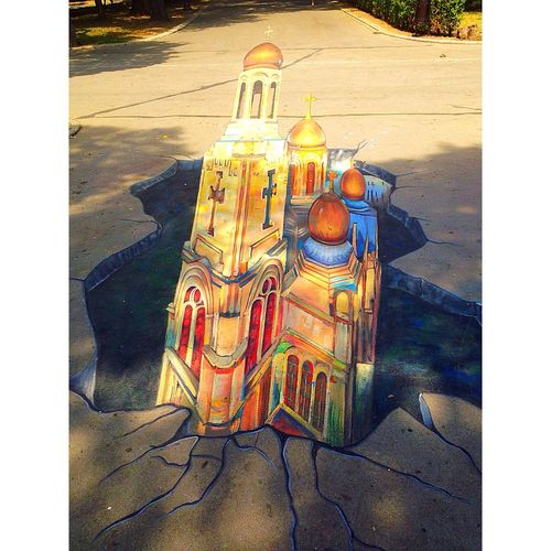 Street drawing 😍🇧🇬 Varna,Bulgaria Varna Streetphotography Streetdrawing Drawing Draw Amazing MyPhotography Fresh Painting Church Cathedral Building Built Structure BuildingPorn IPhone5 Vacation Iphoneonly IPhoneography Trip Summer 89/100happydays