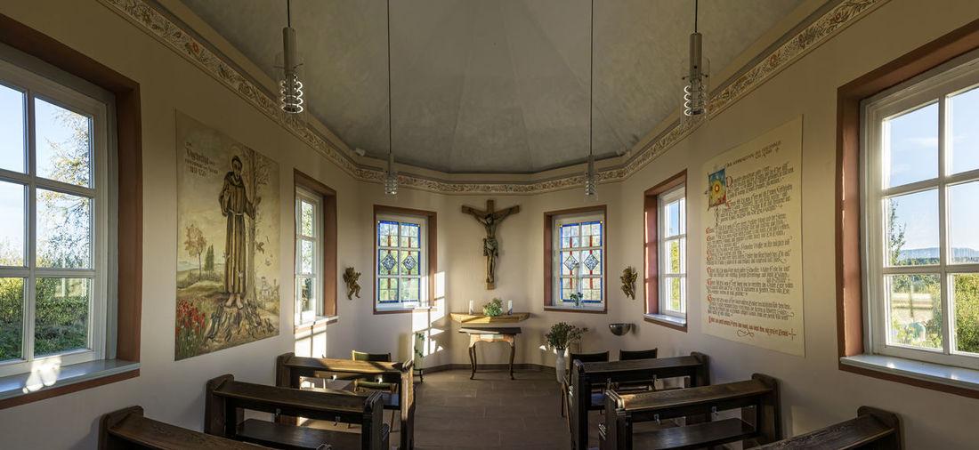 Chapel Gut Herbigshagen - Heinz Sielmann Franz Von Assisi Kapelle Gut Herbigshagen Chapel Heinz Sielmann No People Religion Architecture Indoors  Window