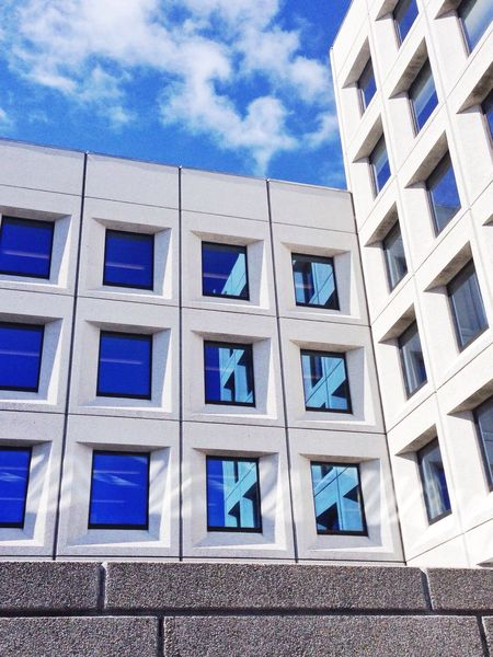 Urban Geometry Architecture Urban Reflections Blue