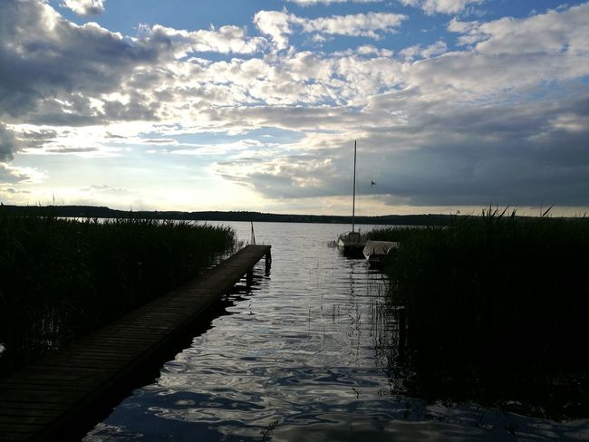 Cloud - Sky Water Sky Outdoors Landscape Beauty In Nature Horizon Over Water Sea Nature Day Germany Tollensesee Good Times Good Life Quality Time