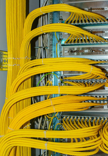 Network switch and network cable rj45 patch cable in a data center
