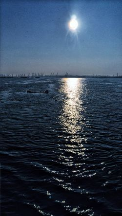 Sea Beauty In Nature Water Reflection Scenics Horizon Over Water Nature Sky Rippled Outdoors No People Astronomy Star - Space Day Sunset Sunlight And Shadow Waves Rolling In Galati City Sunlight Dunare Galați Waterfront Motion Danube River Reflection
