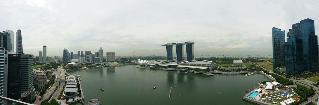 Scenic Marina Bay area, Singapore. Marina Bay Sands Singapore City