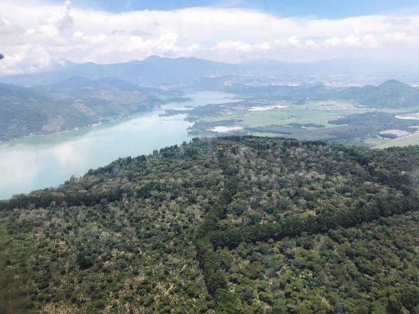 EyeEm Best Shots Beauty In Nature Nature Mountain Scenics Tranquility Tranquil Scene Landscape Outdoors Day Remote Sky Airplane Guatemala Atitlan Lake
