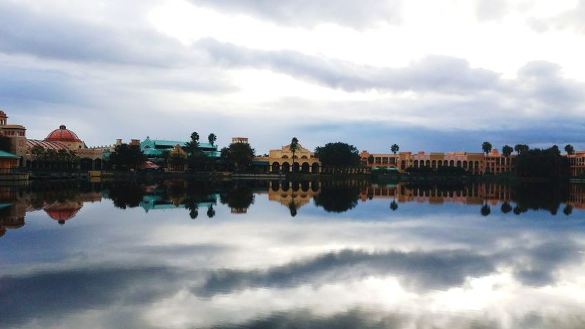 Welcome to Florida Reflection Cloud - Sky Water River Reflecting Pool Dawn Outdoors No People Nature Day Bird Sky DisneyWorld Disney Disneyland Disney World First Eyeem Photo