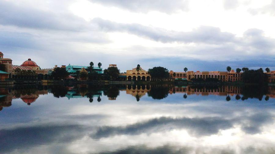 Welcome to Florida Reflection Cloud - Sky Water River Reflecting Pool Dawn Outdoors No People Nature Day Bird Sky DisneyWorld Disney Disneyland Disney World First Eyeem Photo