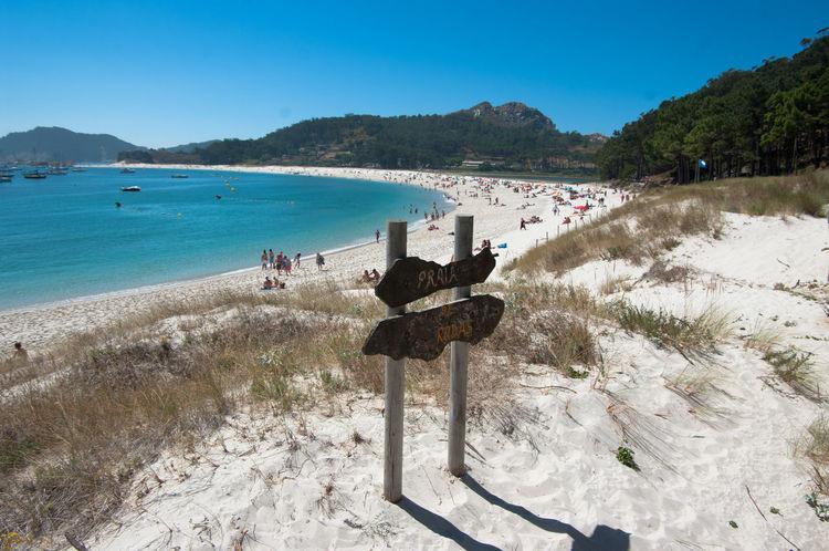Beach Beauty In Nature Cies Island Cies Islands Galicia Horizon Over Water Islas Cies Nature Plant Sand Sea Shore Tranquil Scene Vacations Vigo, Galicia (España) #vigo #galicia #pontevedra #spain #españa Water