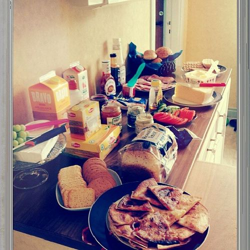 Brunch is now ready! :) Brunch Friends Passion Taberg food