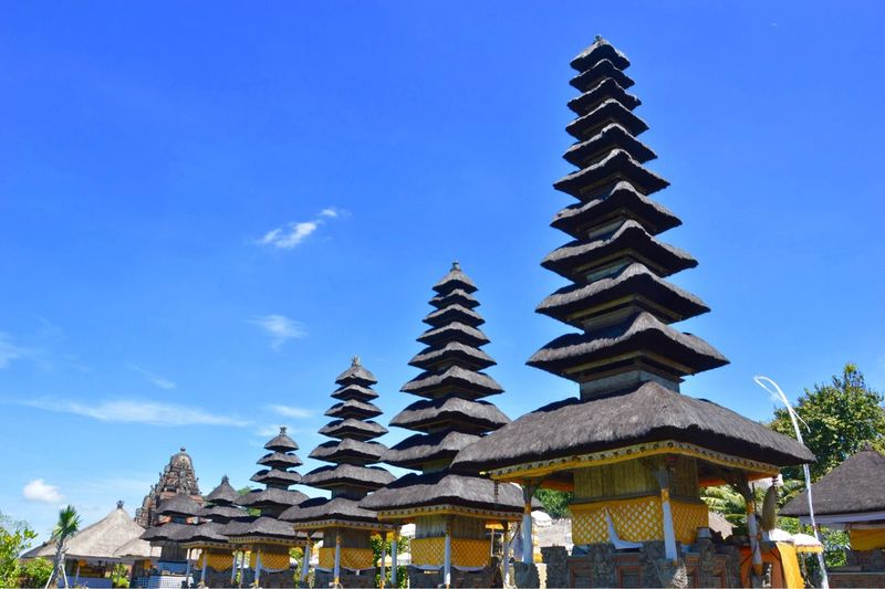 Taman Ayun Temple - Bali Bali Tample Sky Built Structure Architecture Nature Low Angle View Religion Cloud - Sky Spirituality Belief