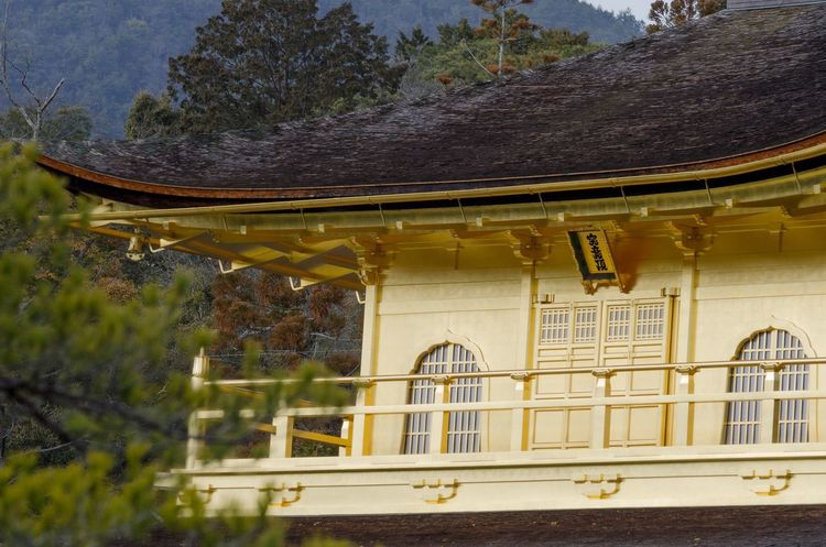 Kinkakuji Temple Kinkakuji Architecture Built Structure No People Building Exterior Day Window Outdoors Tree Low Angle View Nature Mountain Close-up Tiled Roof