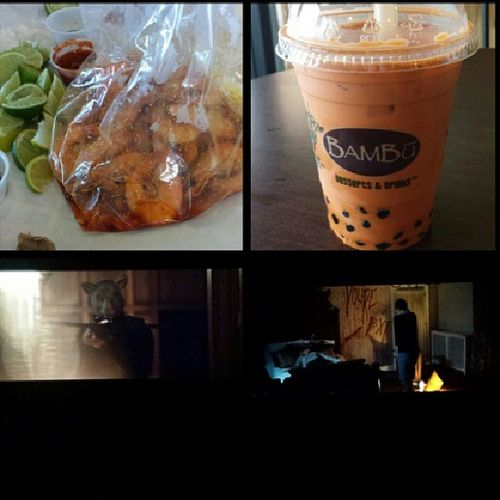 Dinner and movie after mission peek :) Dinner Theboilingcrab Bambudesserts Sanjosé tgif friends movie you'renext