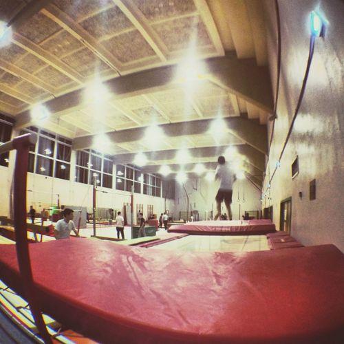 Gym Sport Trampoline Fisheye