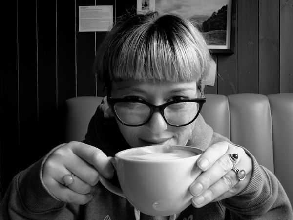 AnaMaria Coffee Dating Plymouthbarbican Romanian Girl Portrait Smile Love Cafe Memories Blackandwhite Huaweiphotography