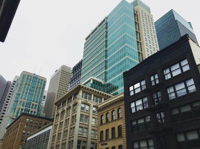 Architecture Buildings San Francisco Sun Sanfran Street Downtown