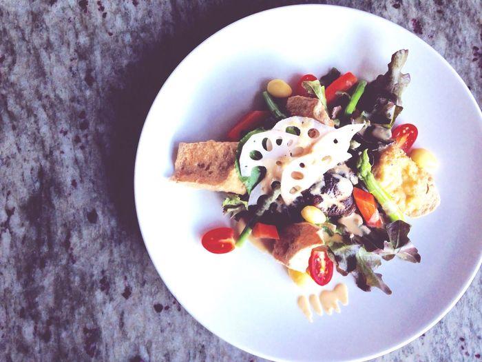 Tofu salad Veggy Salad Tofu Vegetable Healthy Food For Life Supper Dinner At 4 Ananya Thawee Wattana Putthaminthon Sai 3 Green Mushroom Tofu Salad Top Shot