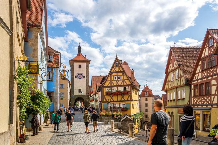 Rothenburg Bavaria Bayern Citscape City Fachwerk Germany Mittelalter Rothenburg Rothenburg Ob Der Tauber Village