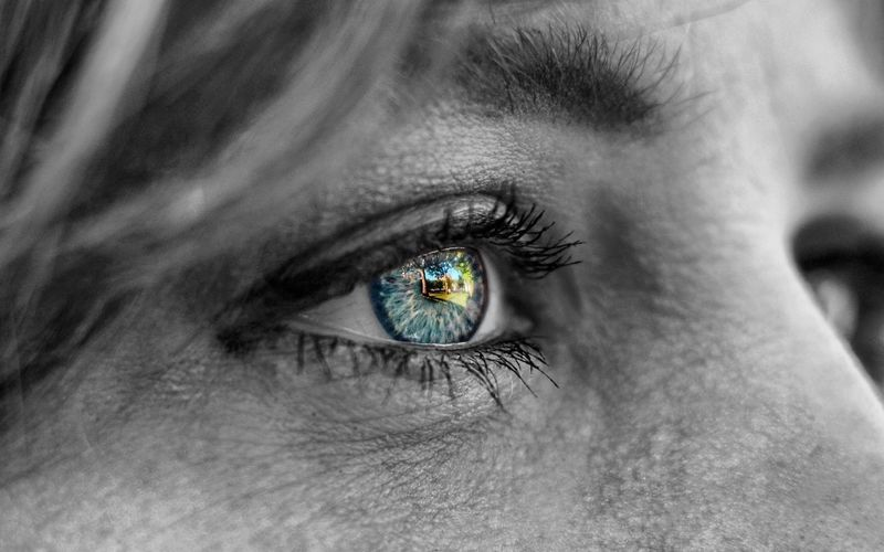 Human Eye Human Body Part Eyelash Eyesight One Person Iris - Eye Close-up Real People Sensory Perception Eyebrow Eyeball One Woman Only One Young Woman Only Futuristic People Adult Only Women Adults Only Young Adult Day Blue Eyes Blueyes BlueEyes Monochrome Photography Monochrome