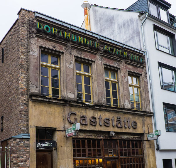 "Old Pub ""Gaststätte"" in Cologne Architecture Bar Beer Bar Building Exterior Built Structure Gastronomy Gaststätte Historic KNEIPE Old Buildings Pub Sign"