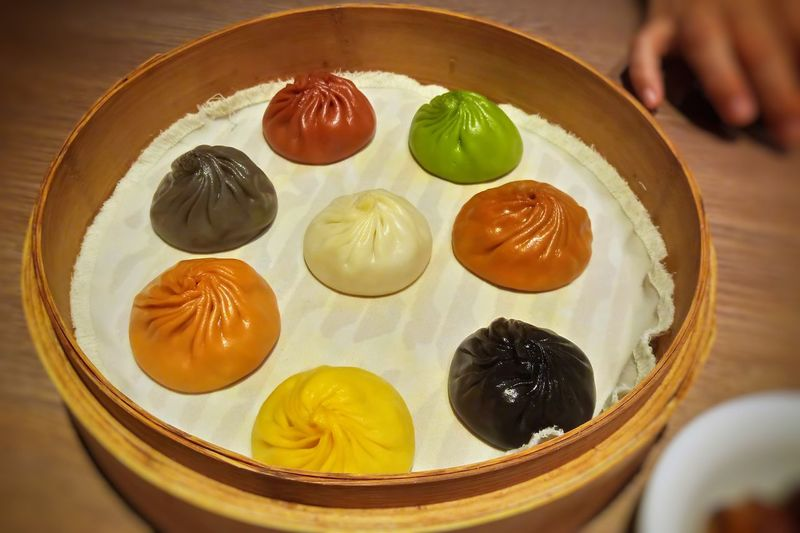 Colorful XiaoLongBao EyeEm Selects Dumpling  Dim Sum Close-up Food And Drink Sweet Food Chinese Dumpling Bamboo - Material Chinese Food Chinese Culture Served Steamed  Asian Food