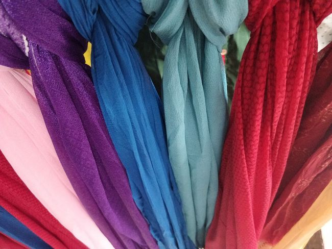 Textile Choice Multi Colored Full Frame Variation Retail  For Sale Backgrounds No People Indoors  Clothing Close-up Market Store Collection Still Life Shopping Hanging Blue Retail Display Consumerism Purple Garment