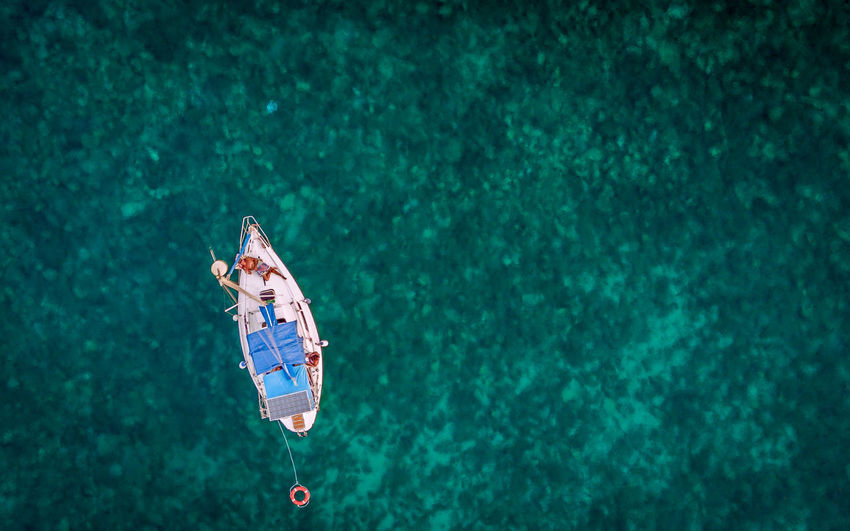 Above Aerial View Beach Beauty Bikini Eyesight Full Length High Angle View Nature Outdoors People Relaxation Sailboat Sea Seascape Sport Summer Swimming UnderSea Underwater Vacations Water
