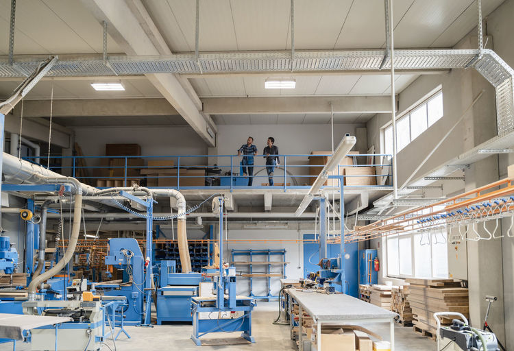 People working in factory