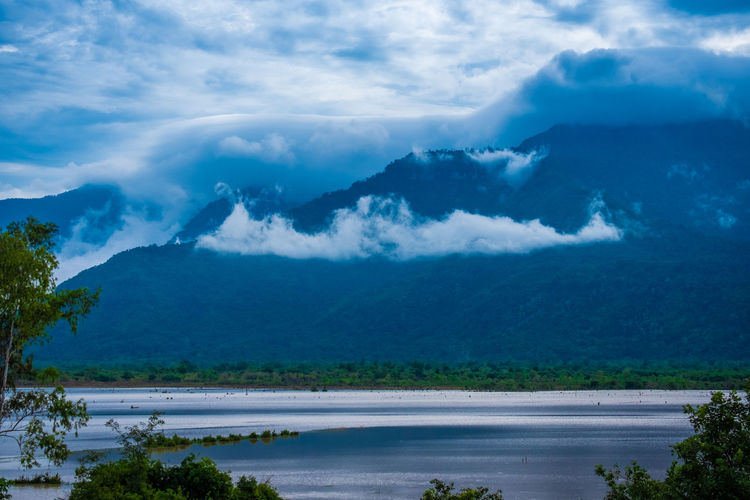 Cloud - Sky Beauty In Nature Scenics - Nature Sky Tranquil Scene Mountain Tranquility Water Tree Plant Nature No People Non-urban Scene Environment Day Landscape Mountain Range Idyllic Outdoors Champasak Laos LAO Nature Mist Fog Southernlaos