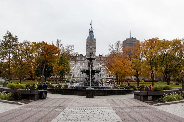 Fountain in city