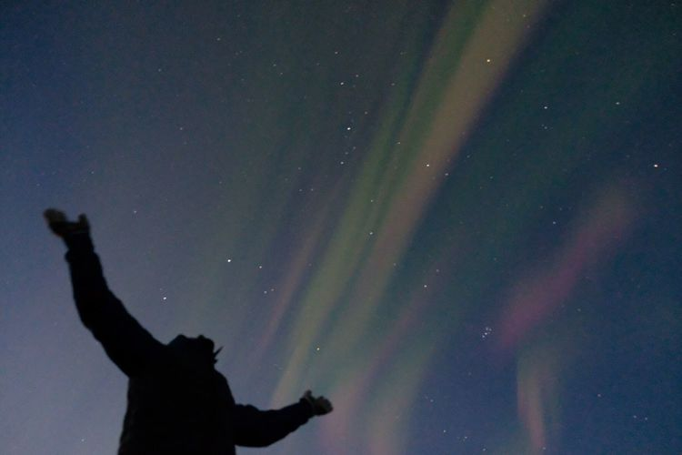 The Week On EyeEm Silhouette Star - Space Night Sky Real People Low Angle View Nature Outdoors Beauty In Nature Scenics Astronomy One Person Galaxy Space People Iceland Beauty In Nature Nature Northern Lights Aurora Borealis Ice Fujifilm FUJIFILM X-T2 Fujifilm This Is Masculinity HUAWEI Photo Award: After Dark